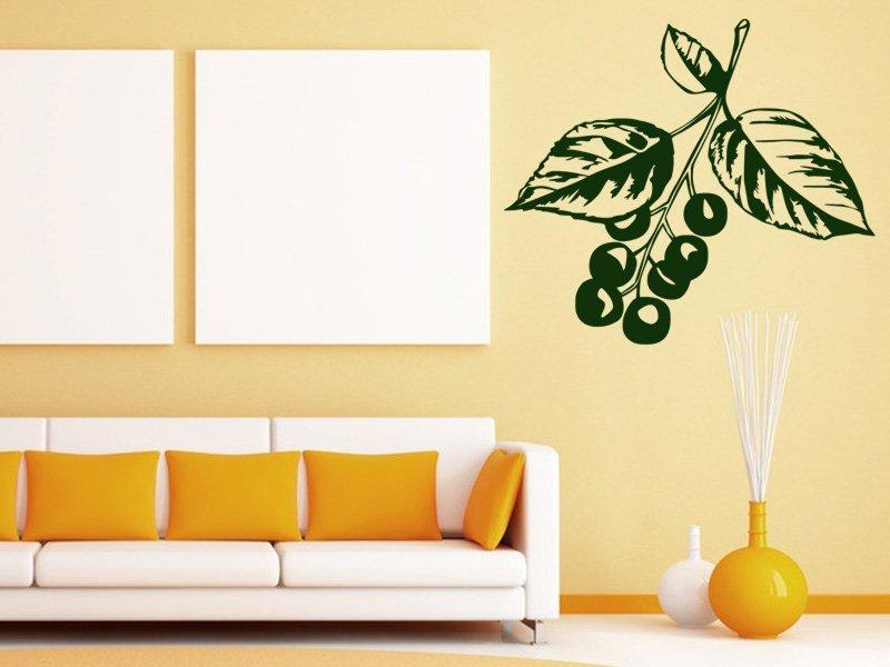 Samolepky na zeď Třešně 001 - Samolepící dekorace a nálepka na stěnu