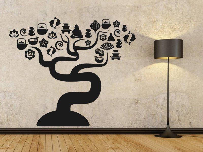 Samolepky na zeď Strom 025 - Samolepící dekorace a nálepka na stěnu