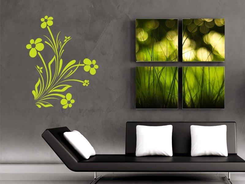 Samolepky na zeď Květiny 037
