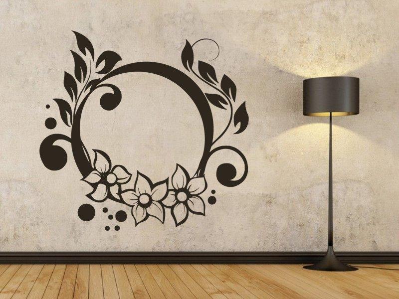 Samolepky na zeď Ornamenty z rostlin 021 - Samolepící dekorace a nálepka na stěnu