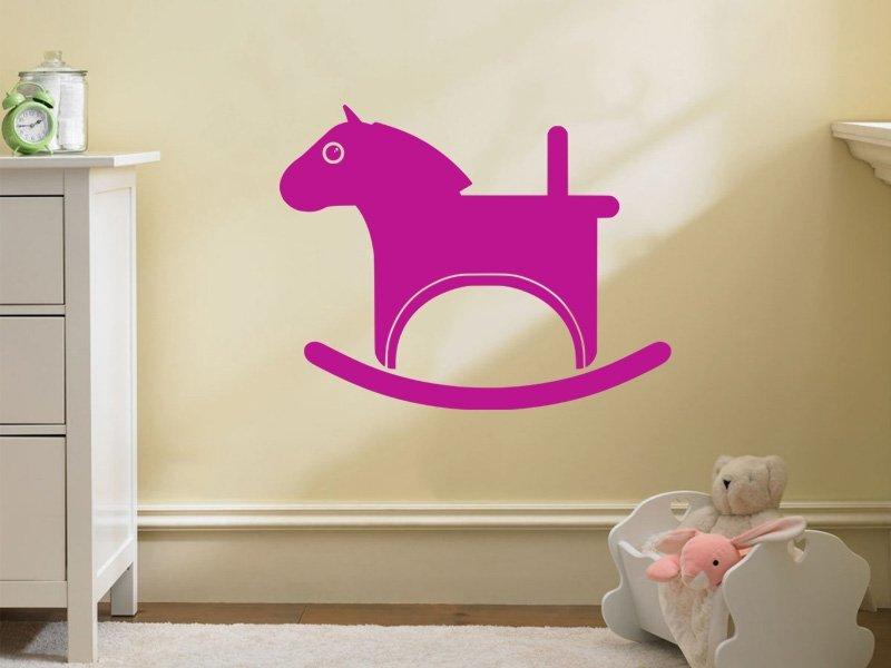 Samolepky na zeď Houpací kůň 002 - Samolepící dekorace a nálepka na stěnu