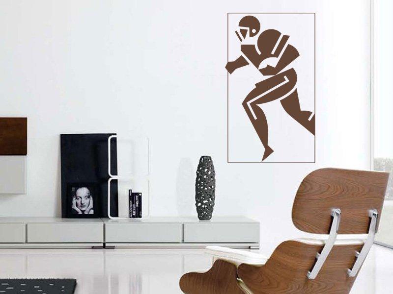 Samolepky na zeď Americký fotbalista 001 - Samolepící dekorace a nálepka na stěnu