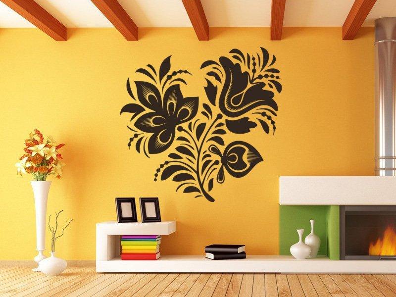 Samolepky na zeď Ornamenty z rostlin 018 - Samolepící dekorace a nálepka na stěnu