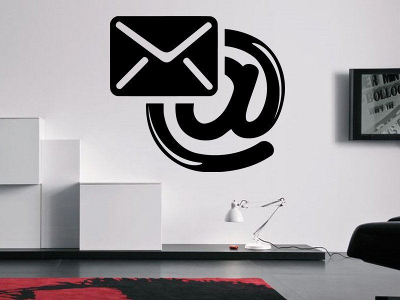 Samolepky na zeď Email 0199 - Samolepící dekorace a nálepka na stěnu