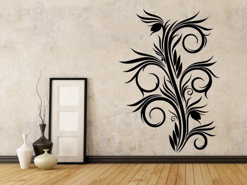 Samolepky na zeď Ornamenty z rostlin 031 - Samolepící dekorace a nálepka na stěnu