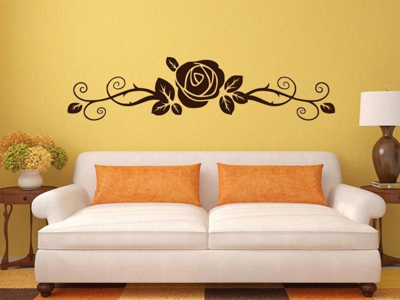 Samolepky na zeď Růže 0183 - Samolepící dekorace a nálepka na stěnu