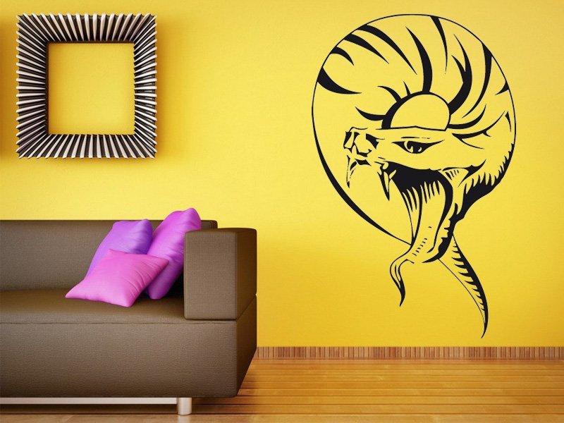 Samolepky na zeď Had 009 - Samolepící dekorace a nálepka na stěnu
