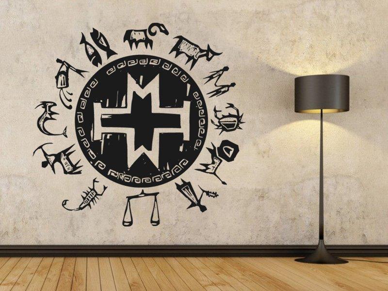 Samolepky na zeď Zvěrokruh 001 - Samolepící dekorace a nálepka na stěnu