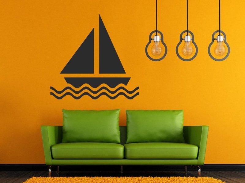 Samolepky na zeď Plachetnice 016 - Samolepící dekorace a nálepka na stěnu