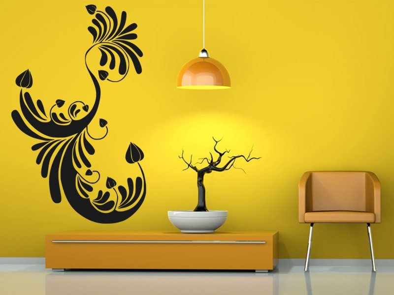 Samolepky na zeď Ornamenty z rostlin 003 - Samolepící dekorace a nálepka na stěnu