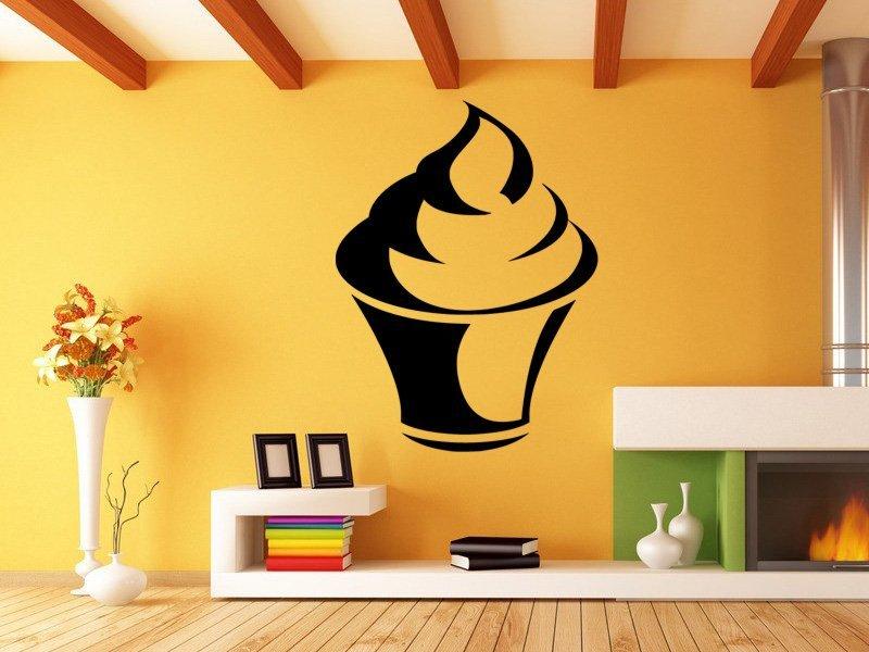 Samolepky na zeď Cupcake 0069 - Samolepící dekorace a nálepka na stěnu