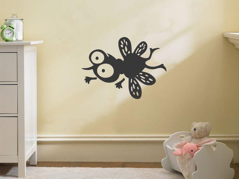 Samolepky na zeď Moucha 001 - Samolepící dekorace a nálepka na stěnu