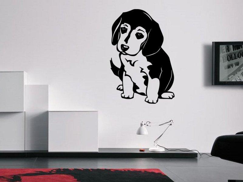 Samolepky na zeď Bígl 001 - Samolepící dekorace a nálepka na stěnu