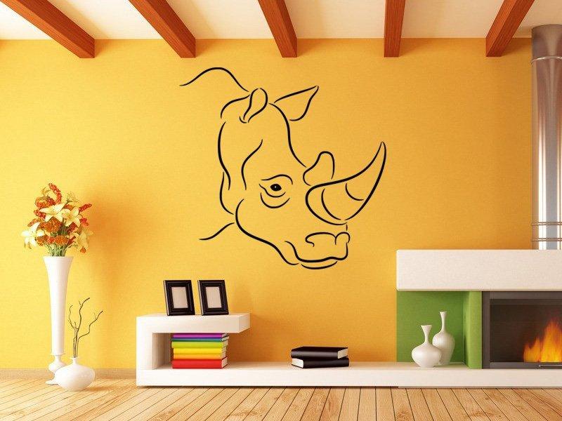 Samolepky na zeď Nosorožec 002 - Samolepící dekorace a nálepka na stěnu