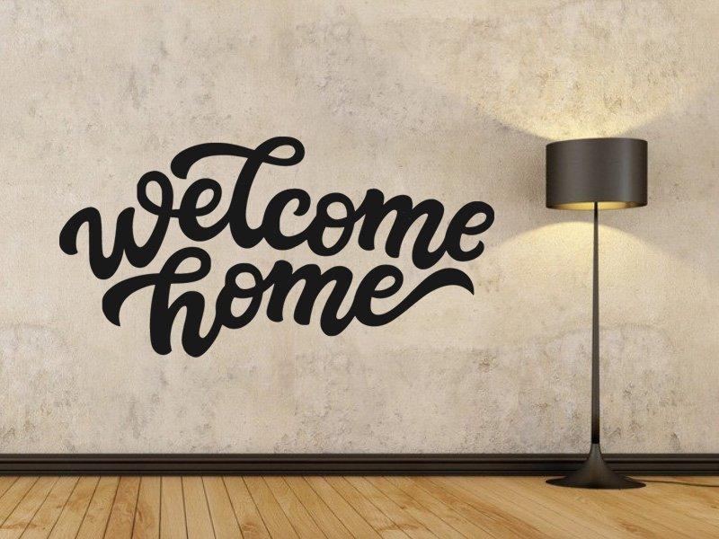 Samolepky na zeď Nápis Welcome Home 0636 - Samolepící dekorace a nálepka na stěnu