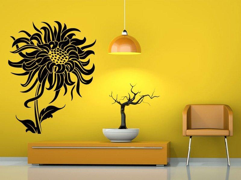 Samolepky na zeď Květiny 023 - Samolepící dekorace a nálepka na stěnu