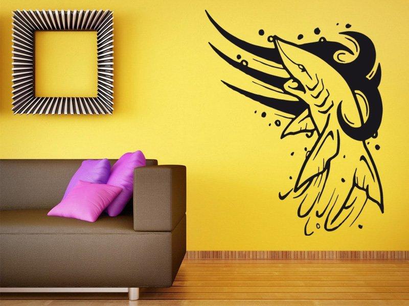 Samolepky na zeď Žralok 002 - Samolepící dekorace a nálepka na stěnu