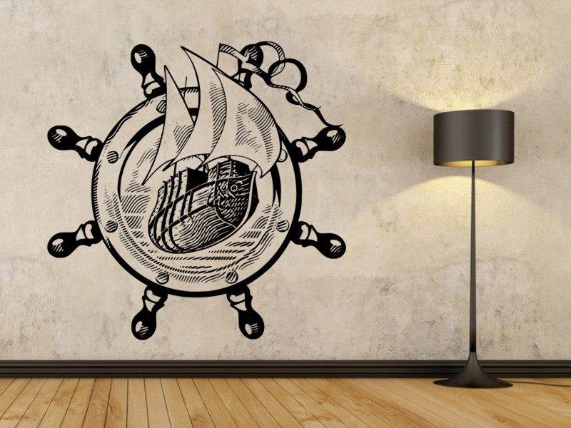 Samolepky na zeď Námořní loď 001 - Samolepící dekorace a nálepka na stěnu