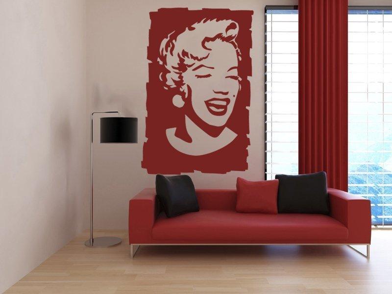 Samolepky na zeď Marylin Monroe 002 - Samolepící dekorace a nálepka na stěnu