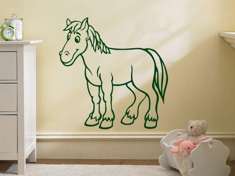 Samolepky na zeď Kůň 018 - Samolepící dekorace a nálepka na stěnu