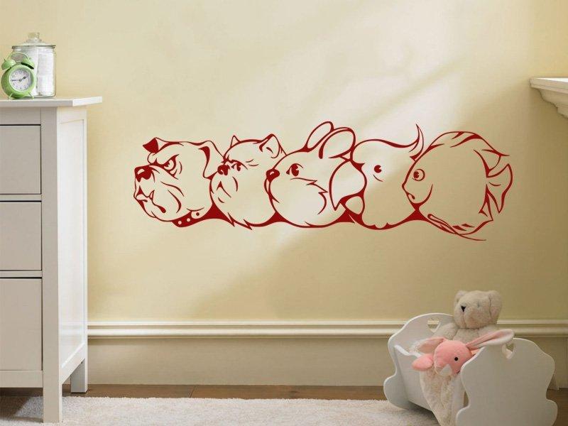Samolepky na zeď Zvířátka 004 - Samolepící dekorace a nálepka na stěnu