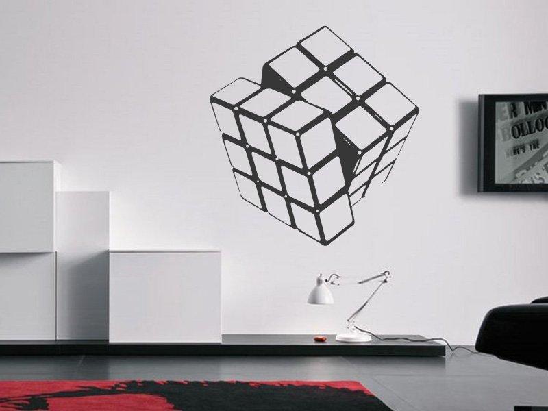 Samolepky na zeď Rubikova kostka 001 - Samolepící dekorace a nálepka na stěnu
