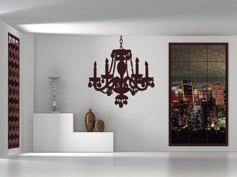 Samolepky na zeď Lustr 001 - Samolepící dekorace a nálepka na stěnu