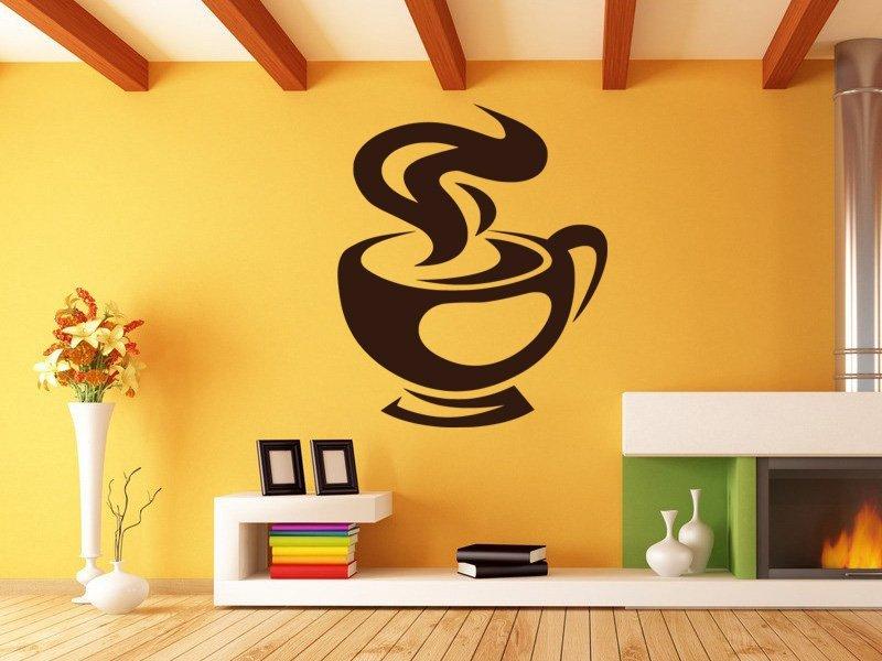 Samolepky na zeď Hrnek kávy 0053 - Samolepící dekorace a nálepka na stěnu