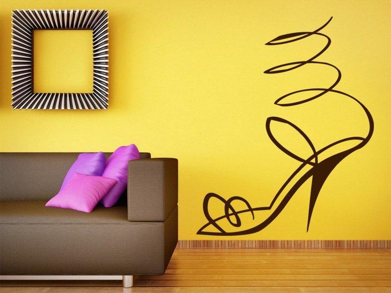 Samolepky na zeď Střevíček 001 - Samolepící dekorace a nálepka na stěnu