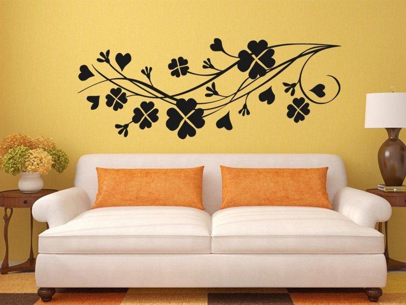 Samolepky na zeď Květiny 0267 - Samolepící dekorace a nálepka na stěnu