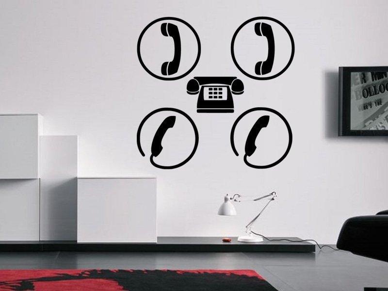 Samolepky na zeď Telefon 0296 - Samolepící dekorace a nálepka na stěnu