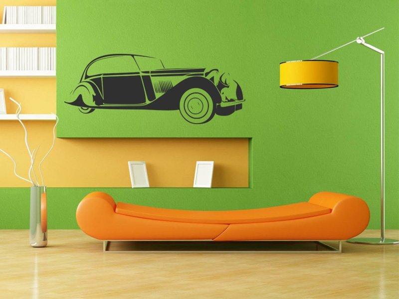 Samolepky na zeď Auto 036 - Samolepící dekorace a nálepka na stěnu