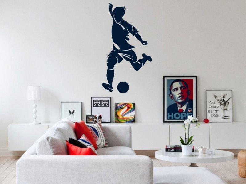 Samolepky na zeď Fotbalista 018 - Samolepící dekorace a nálepka na stěnu