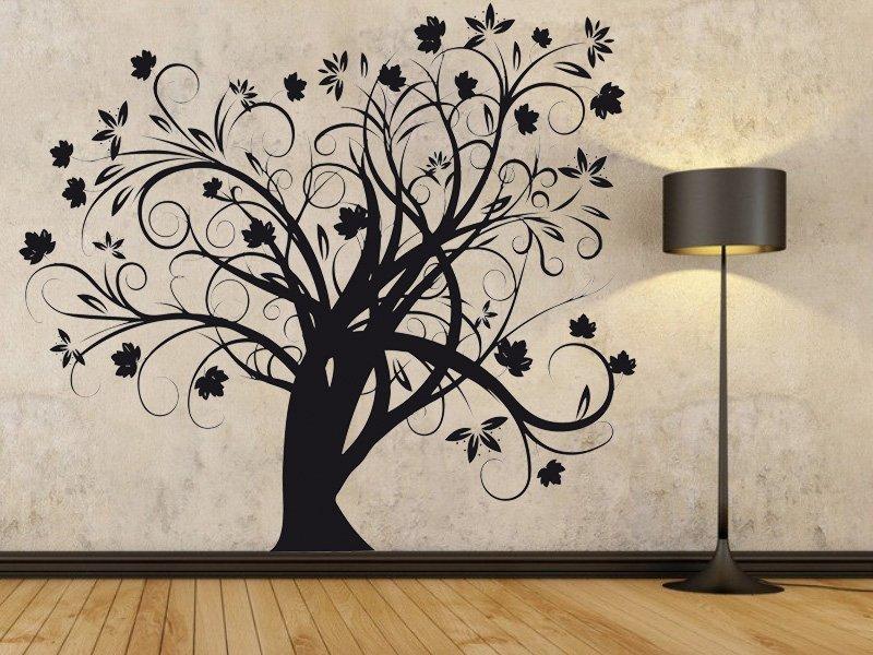 Samolepky na zeď Strom 018 - Samolepící dekorace a nálepka na stěnu