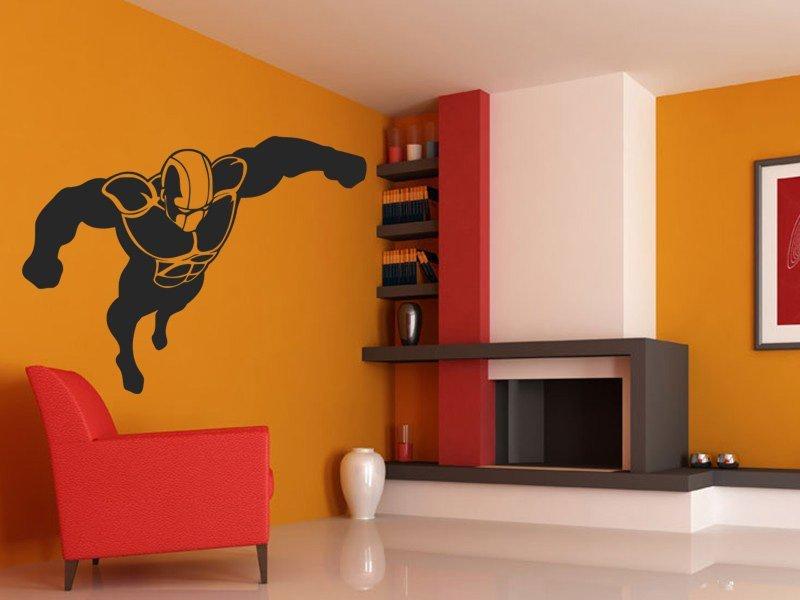 Samolepky na zeď Superhrdina 001 - Samolepící dekorace a nálepka na stěnu