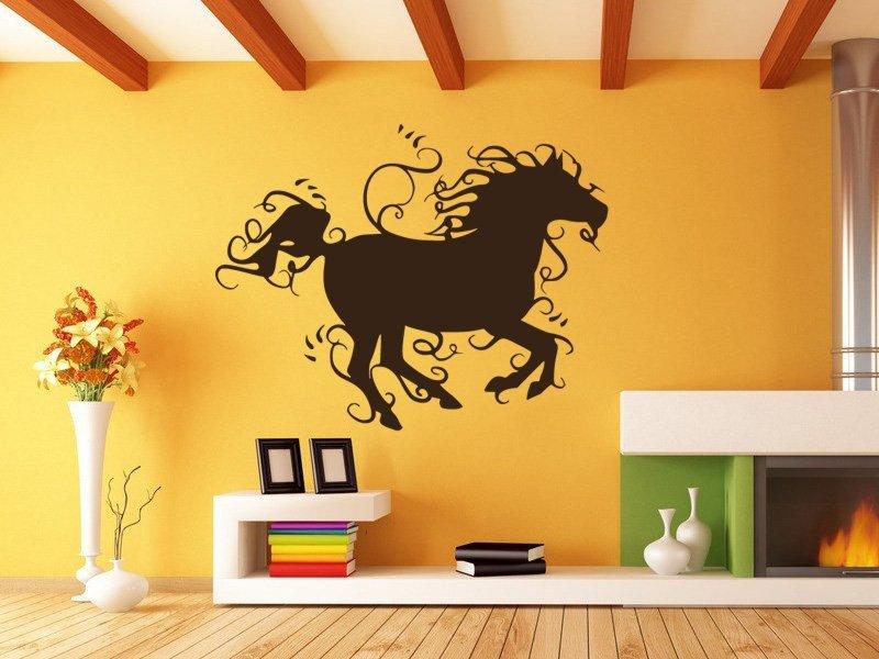 Samolepky na zeď Kůň 015 - Samolepící dekorace a nálepka na stěnu