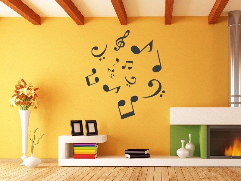 Samolepky na zeď Noty 010 - Samolepící dekorace a nálepka na stěnu