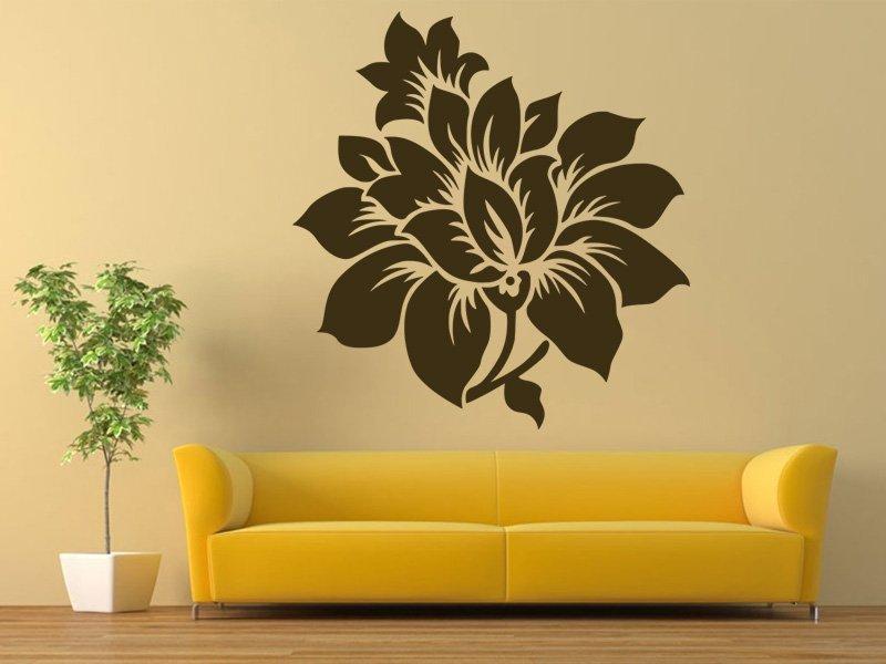Samolepky na zeď Květiny 007 - Samolepící dekorace a nálepka na stěnu