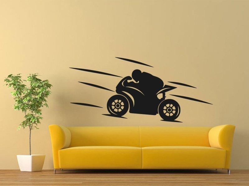Samolepky na zeď Motorka 022 - Samolepící dekorace a nálepka na stěnu