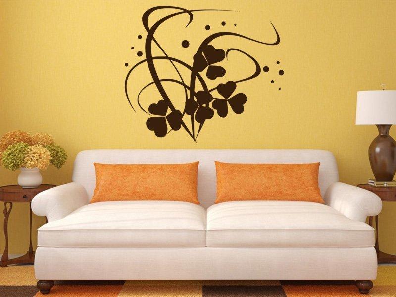 Samolepky na zeď Ornamenty z rostlin 034 - Samolepící dekorace a nálepka na stěnu