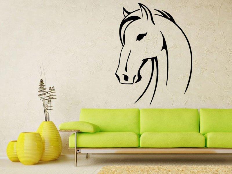 Samolepky na zeď Kůň 0349 - Samolepící dekorace a nálepka na stěnu
