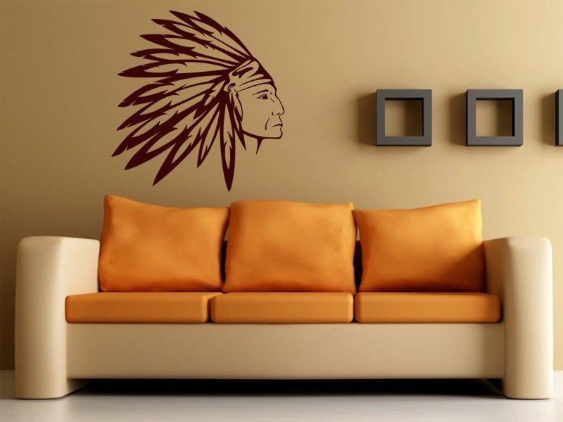 Samolepky na zeď Indián 002 - Samolepící dekorace a nálepka na stěnu