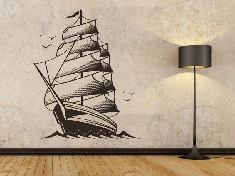 Samolepky na zeď Loď 001 - Samolepící dekorace a nálepka na stěnu