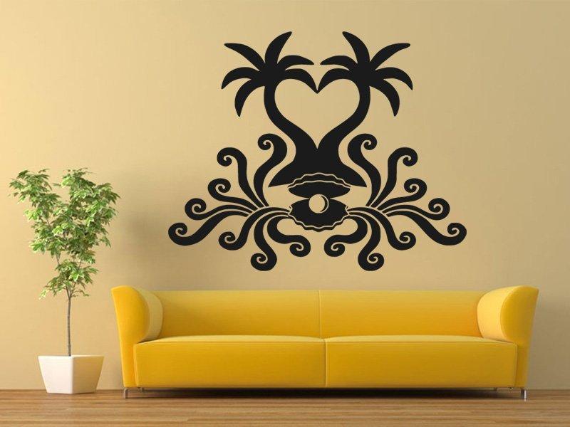 Samolepky na zeď Palmy 009 - Samolepící dekorace a nálepka na stěnu