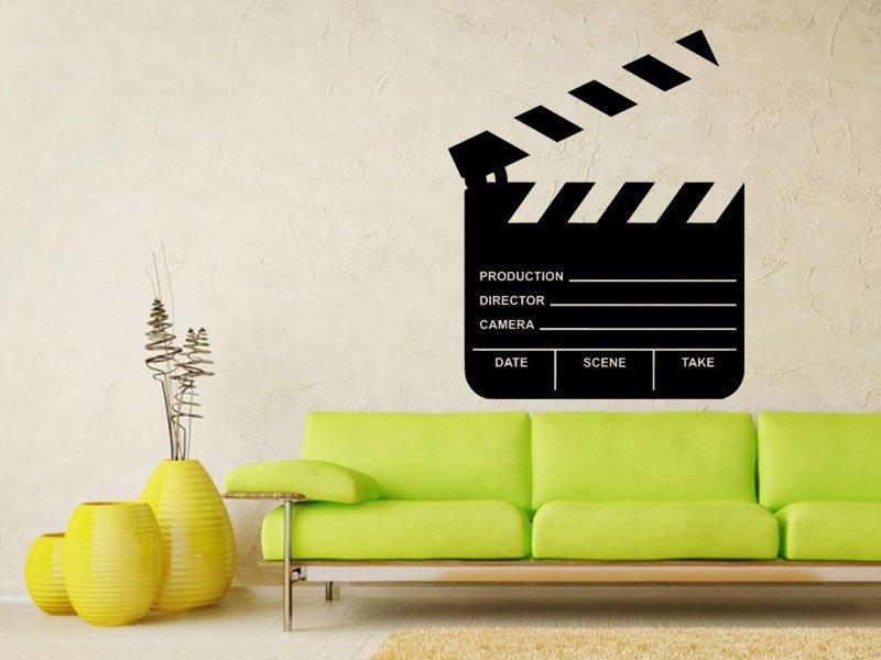 Samolepky na zeď Filmová klapka 0205 - Samolepící dekorace a nálepka na stěnu