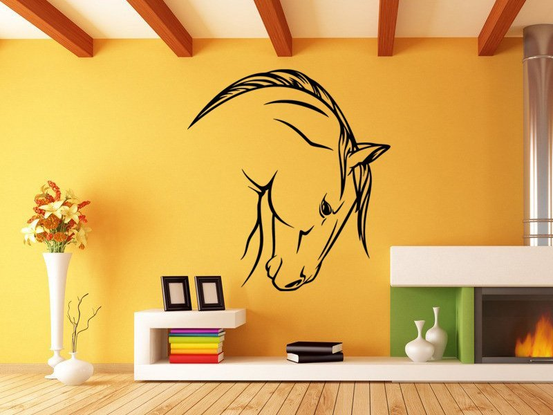 Samolepky na zeď Kůň 0397 - Samolepící dekorace a nálepka na stěnu