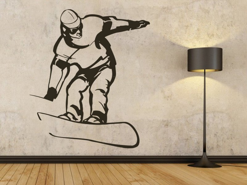 Samolepky na zeď Snowboardista 006 - Samolepící dekorace a nálepka na stěnu