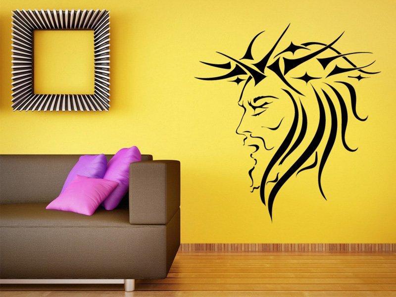 Samolepky na zeď Tvář 001 - Samolepící dekorace a nálepka na stěnu