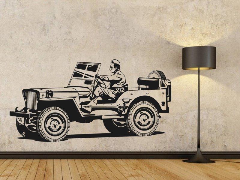 Samolepky na zeď Auto 027 - Samolepící dekorace a nálepka na stěnu