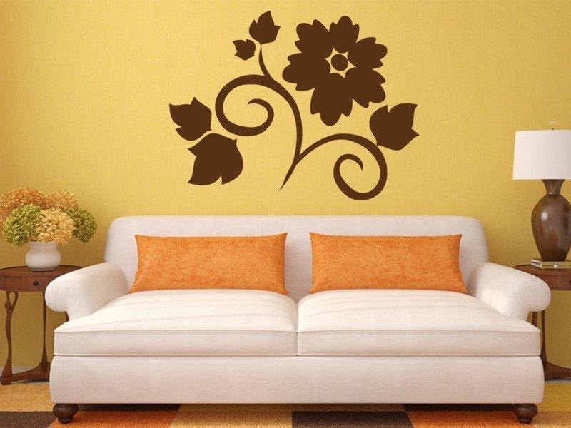 Samolepky na zeď Květiny 016 - Samolepící dekorace a nálepka na stěnu